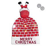 Gorros De Punto Niño Para Mujer Hombre Con Pompon Invierno Sombrero De Navidad Nuevo Sombrero Creativo De Lana Con Luz LED Para Niños Sombrero De Mediana Edad Para Adultos, Regalo De Fiesta Navideñ