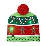 Folewr-8 - Gorro de Navidad con luz LED para Cosplay